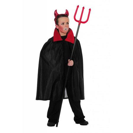 Draculacape rode kraag kind