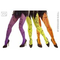 Panty neon met vleermuis