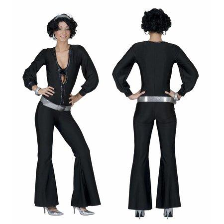 Sexy Disco Jumpsuit zwart