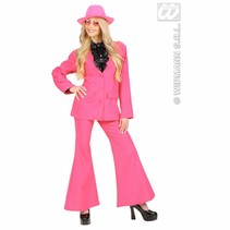 Party kostuum neon roze dames