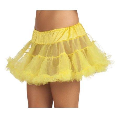 Gele petticoat dames