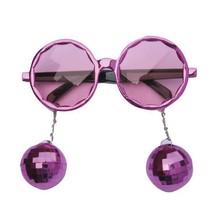 Bril met roze disco ballen