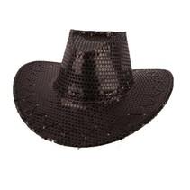 Hoed Cowboy Sequin Zwart