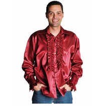 Rouches blouse luxe bordeaux rood