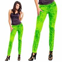 Denim Legging Neon Groen