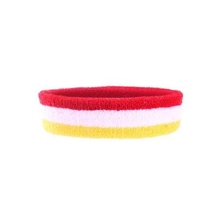 Foute hoofdband rood/wit/geel