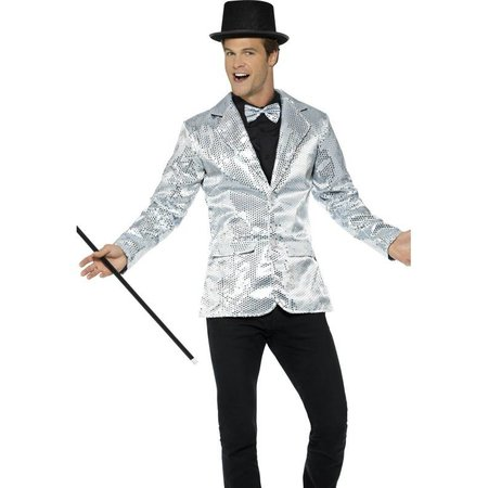 Colbert zilver pailletten