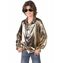Disco blouse goud kind