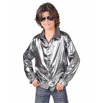 Disco blouse zilver kind