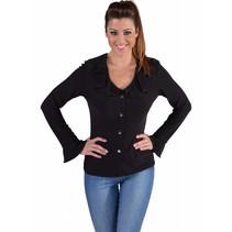Jersey blouse zwart