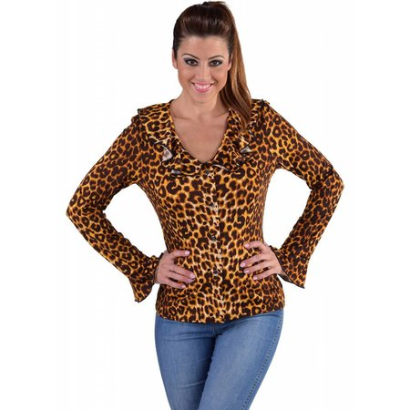 Jersey blouse panterprint
