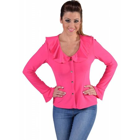 Jersey blouse pink
