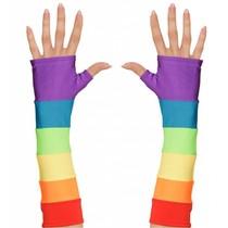 Regenboog handschoenen