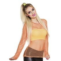 Visnet shirt neon oranje