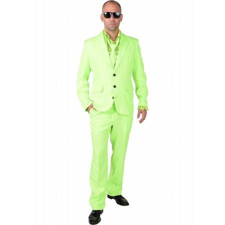 Fluor Groen Kostuum Man