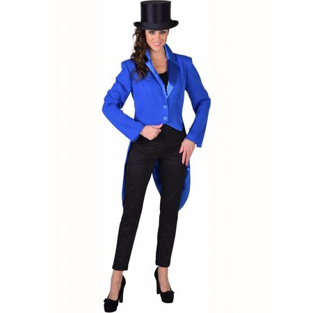 Slipjas blauw cabaret half gevoerd