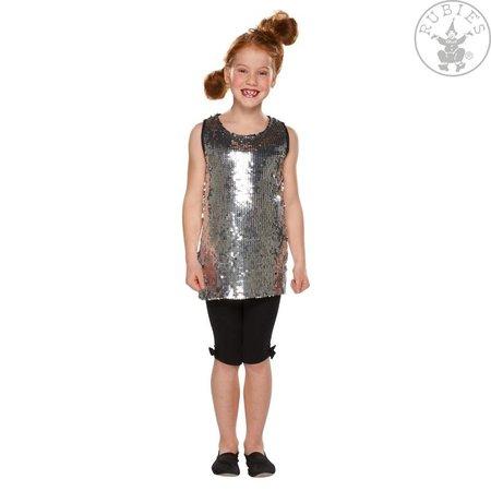 Zilveren paillettenjurk meisje