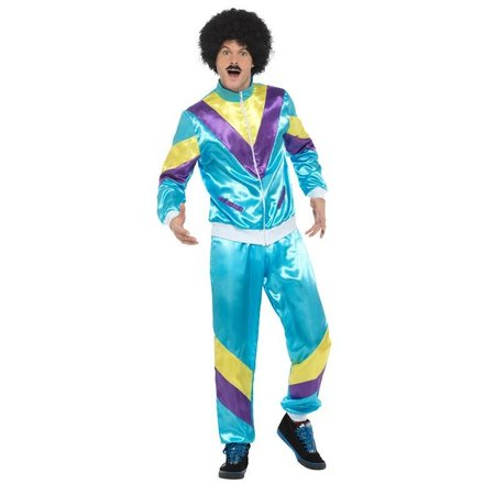 Jaren 80 trainingspak kostuum man