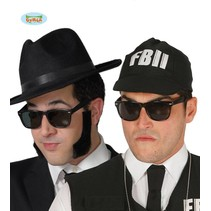 Bril zwart Blues Brothers