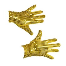Handschoenen pailletten goud volwassen