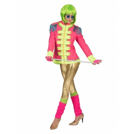 Neon Beatles jas dames roze