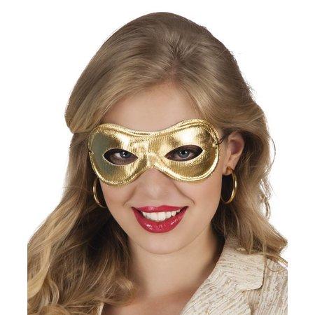 Oogmasker Metallised goud