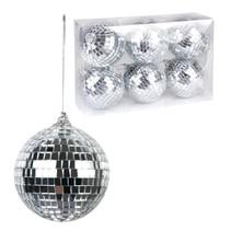 Set zilveren Discoballen - 6 stuks