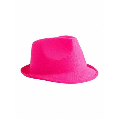 Neon roze hoed