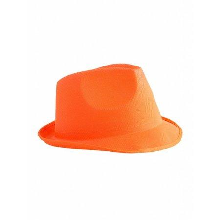 Neon oranje hoed
