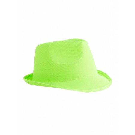 Neon groene hoed