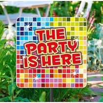 Tuinbord The Party Is Here