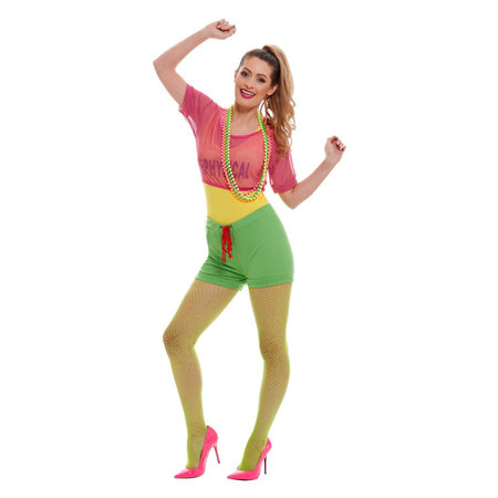 Jaren 80 Let's Get Physical Girl Dames Kostuum