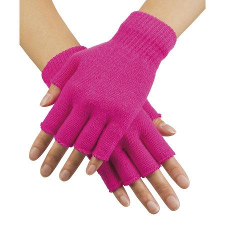 Vingerloze handschoen fluor pink