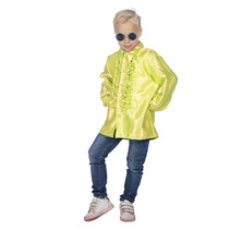 Ruches blouse neon geel kind