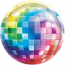 8 gebaksbordjes disco fever 70's