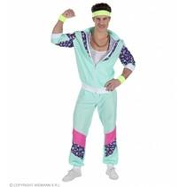 Mintgroen Trainingspak Man Kostuum