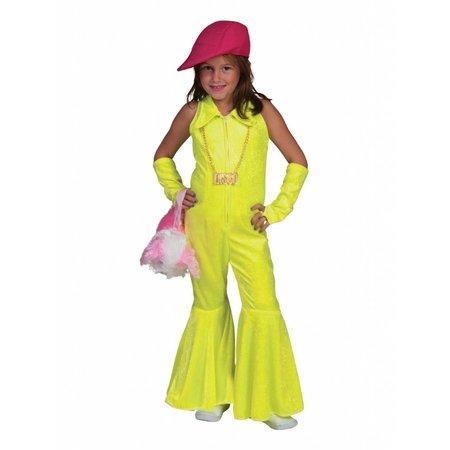 Geel Disco Jumpsuit Meisje Kostuum