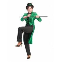 Slipjas pailletten groen vrouw