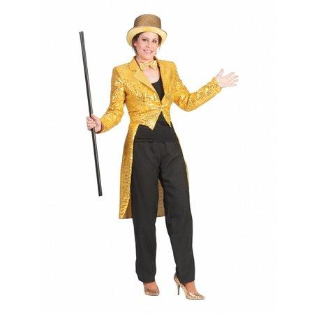 Slipjas goud pailletten dames
