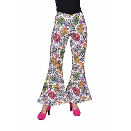 Hippie Broek Mexican Skull dames
