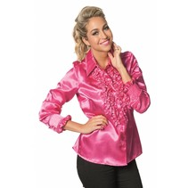 Dames Ruche Blouse Pink