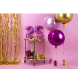Folie Ballon Bal Metallic Lichtroze 40cm