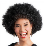 Pruik Afro zwart