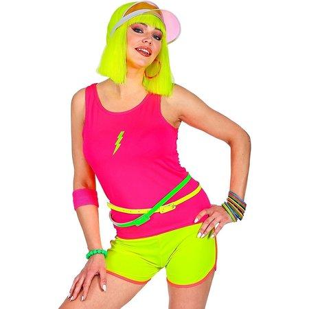 80's Top Neon Roze