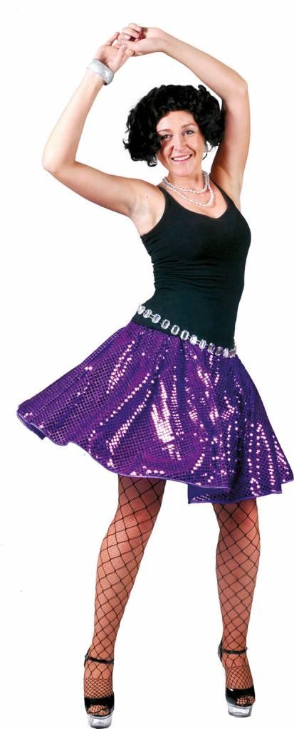 3c110fa62e655c Disco rok glitter paars