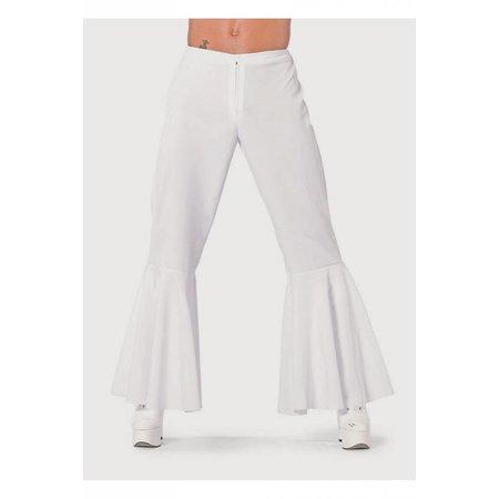 Hippie broek bi-stretch man wit