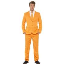 Oranje herenpak 3-delig
