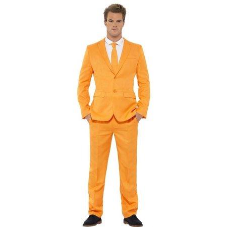 Oranje herenpak 3/delig