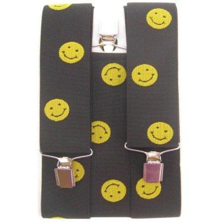 Bretels zwart met smileys