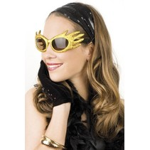 Funbril glitter goud